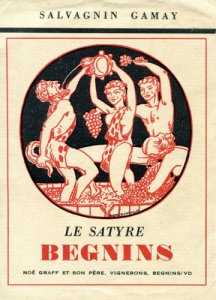 Une ancienne étiquette du Satyre de l'ami et camarade Noé Graff. Buvez ses vins, qui sont aussi ceux de sa fille Noémie, ils font l'ivresse belle. Le site du Satyre